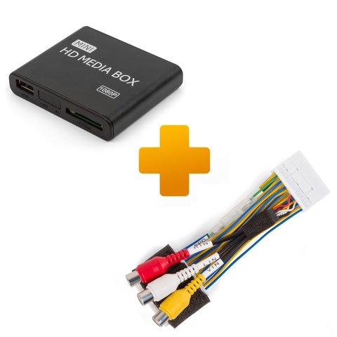 Мультимедийный Full HD плеер и кабель подключения для мониторов Toyota Citroen и Peugeot X Touch X Nav