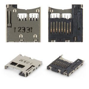 Memory Card Connector for Nokia 3250, 5200, 5220, 5300, 5310, 6131, 6151, 6233, 6234, 6300, 7210sn, 7310sn, E50 Cell Phones