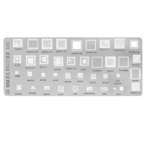 BGA Stencil A482, (MT6795, MT6737V, MT6582, MSM8996, MSM8974, MSM8956, MSM8939, MSM8928, LC860C, 39 in 1)