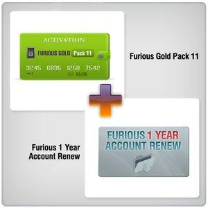 Продление доступа в зону поддержки Furious на 1 год + Furious Gold Pack 11