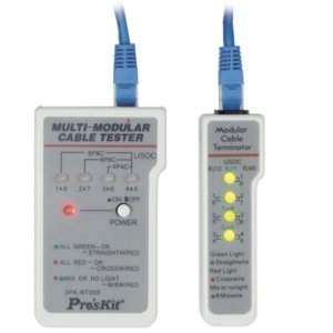 ProsKit 3PK-NT005N Тестер компьютерного и телефонного сетевого кабеля с тон-генератором
