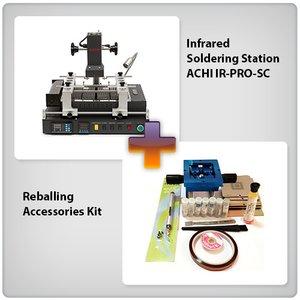 Инфракрасная паяльная станция ACHI IR-PRO-SC с набором для реболлинга