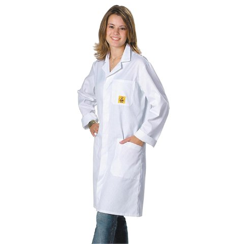 Антистатический халат Warmbier AM160, белый 2618.AM160.W.L