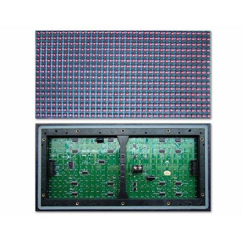 LED модуль для реклами P10 Yellow 320 × 160 мм, 32 × 16 точок, IP65, 2000 нт