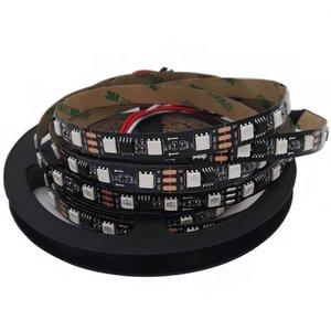 Світлодіодна стрічка RGB SMD5050, WS2811 (чорна, з управлінням, IP20, 12 В, 60 діодів/м, 1 м)